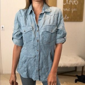 Bella Dahl button down jean top